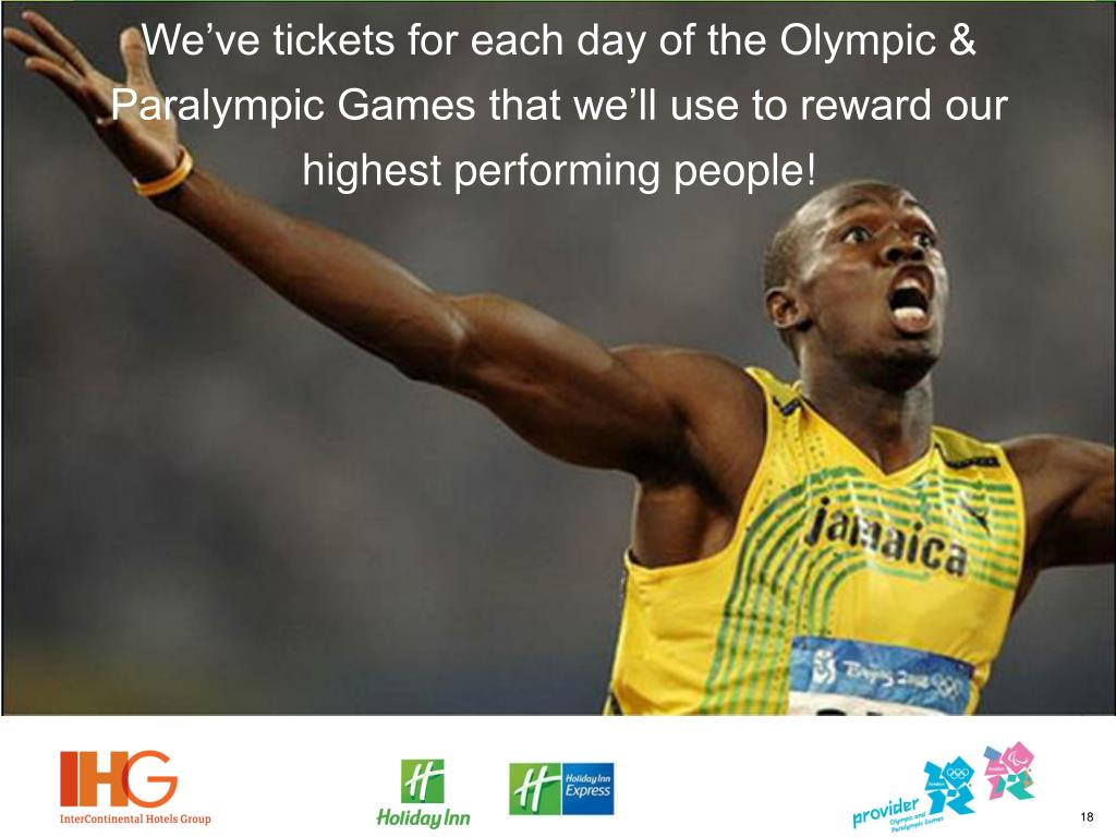 We've tickets for each day of the Olympic & Paralympic Games that we'll use to reward our highest performing people!