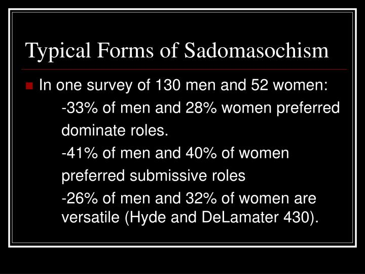 Typical Forms of Sadomasochism