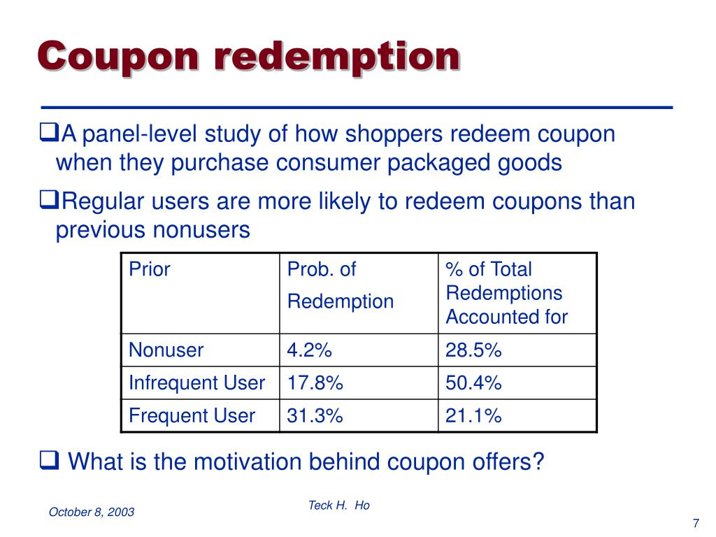 Coupon redemption