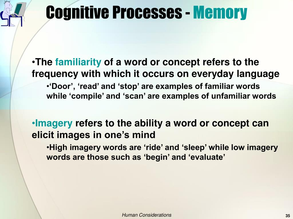 Cognitive Processes -