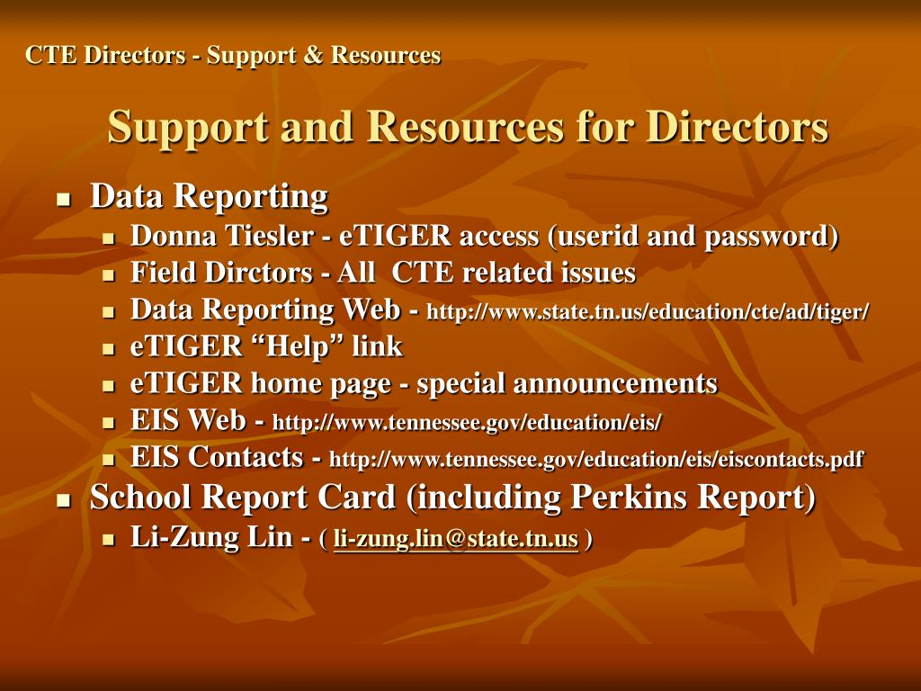 CTE Directors - Support & Resources