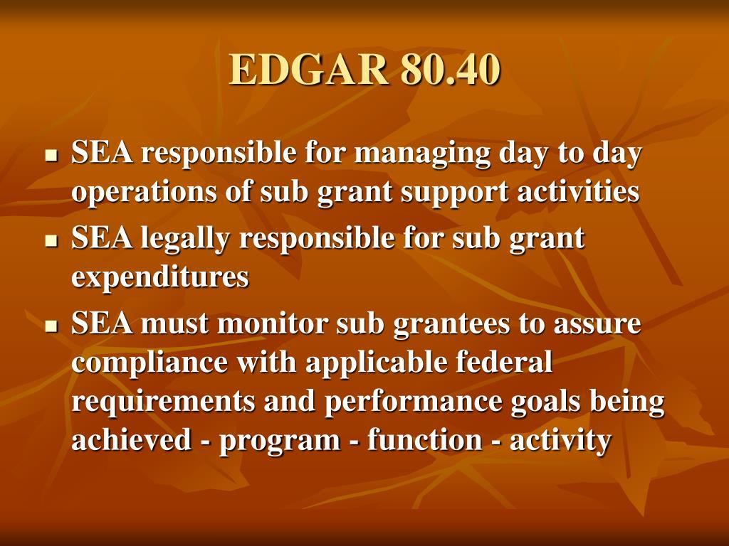 EDGAR 80.40