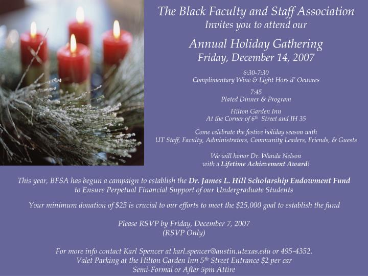 The Black Faculty and Staff Association
