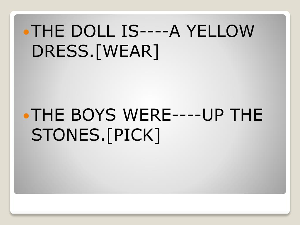 THE DOLL IS----A YELLOW DRESS.[WEAR]