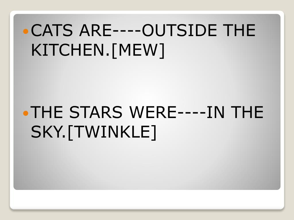 CATS ARE----OUTSIDE THE KITCHEN.[MEW]