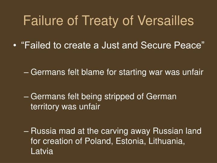 a discussion on the problems of the treaty of versailles Explore how the treaty of versailles divided the allies at the end of world war  one  the american liberal peace programme challenges to wilson  negotiations  discussions about possible peace terms were repeatedly.