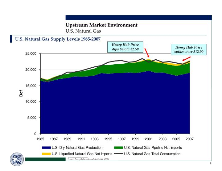 U.S. Natural Gas Supply Levels 1985-2007