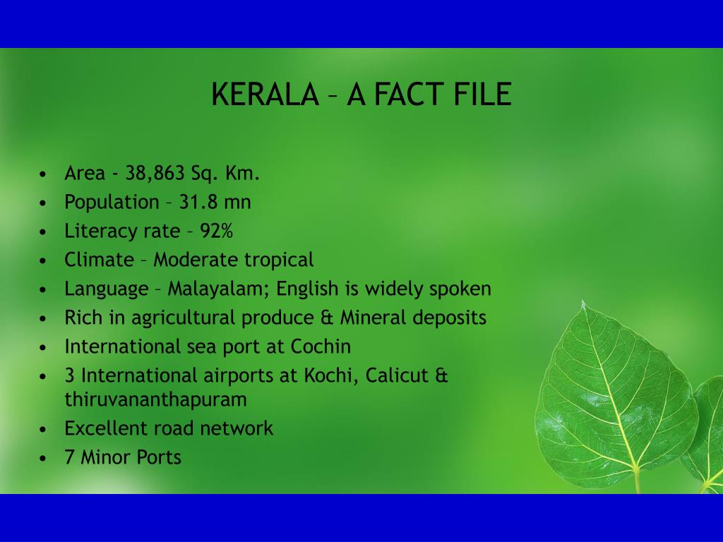 KERALA – A FACT FILE