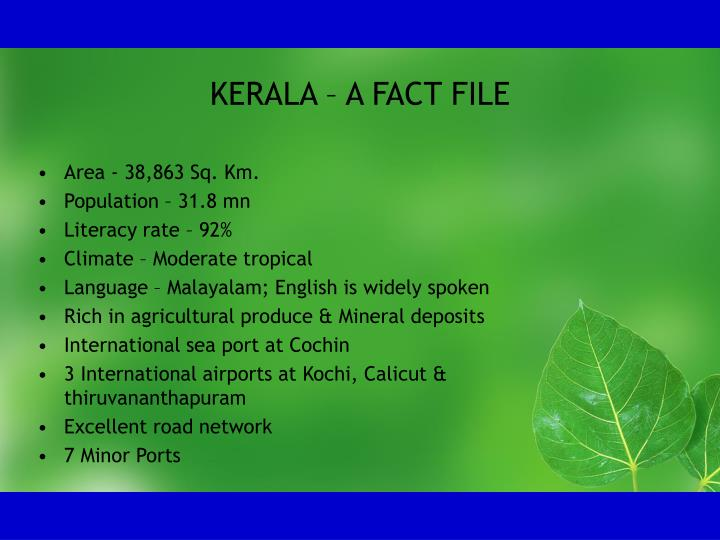 Kerala a fact file
