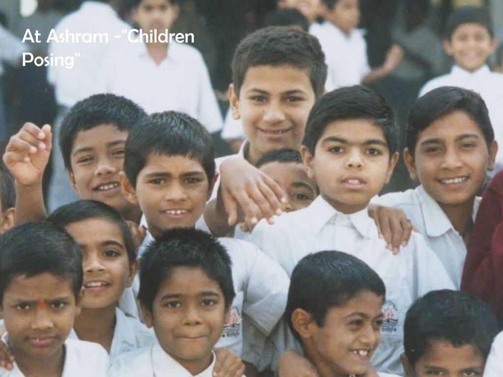 "At Ashram -""Children Posing"""