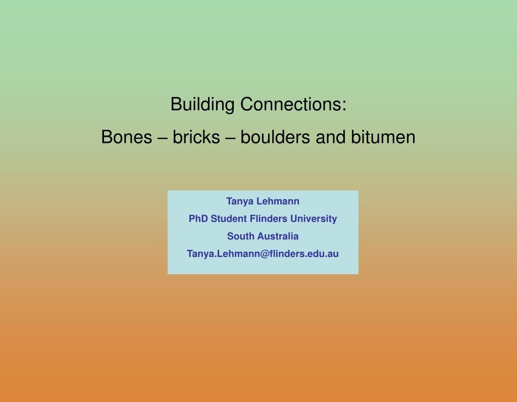 Building Connections: