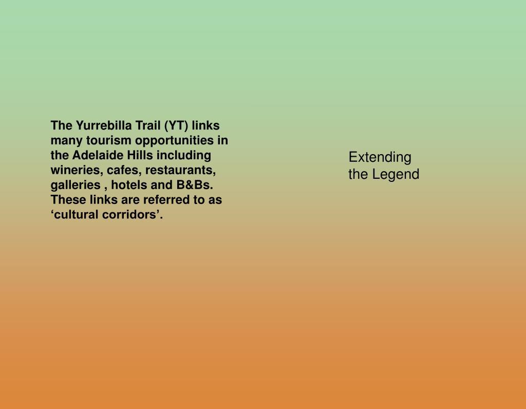 The Yurrebilla Trail (YT) links