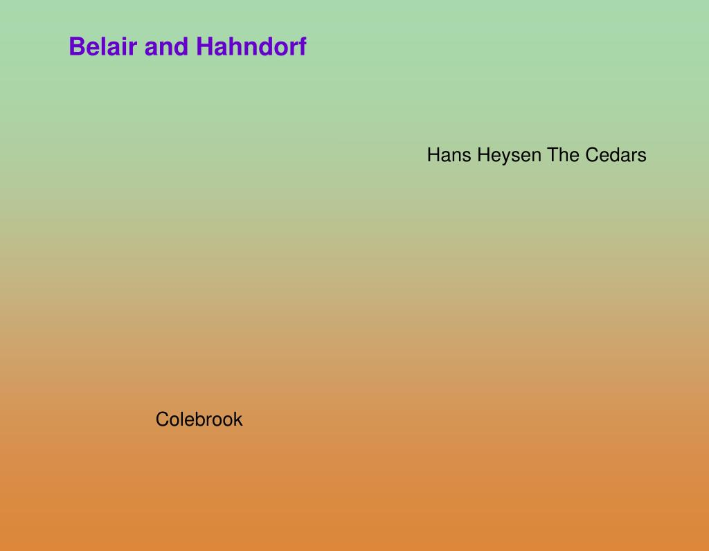 Belair and Hahndorf