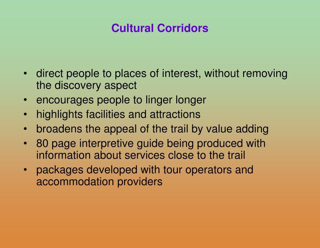 Cultural Corridors