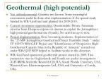 geothermal high potential