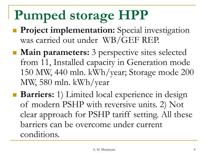 Pumped storage HPP