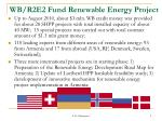 wb r2e2 fund renewable energy project