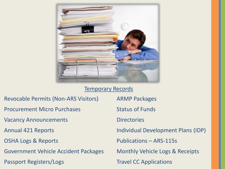 Temporary Records