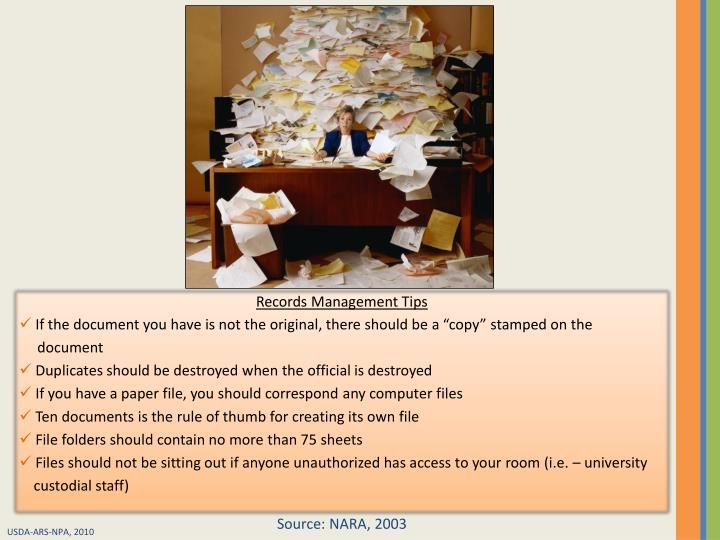 Records Management Tips
