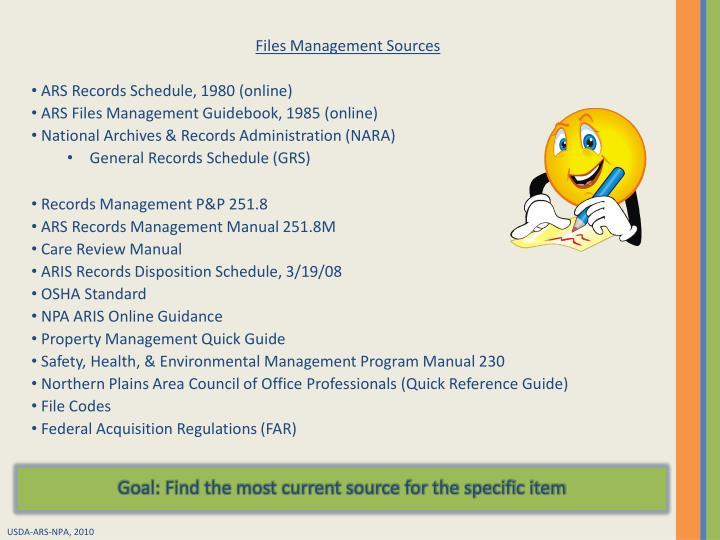 Files Management Sources