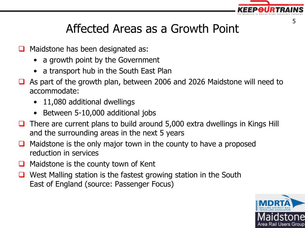 Affected Areas as a Growth Point