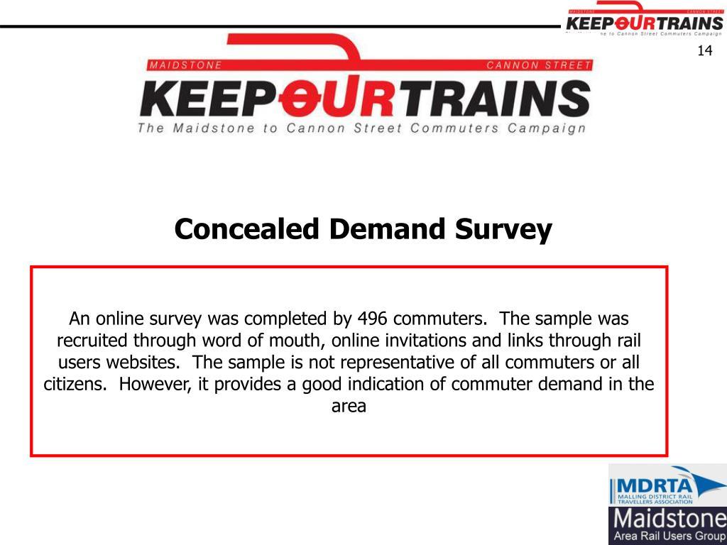Concealed Demand Survey