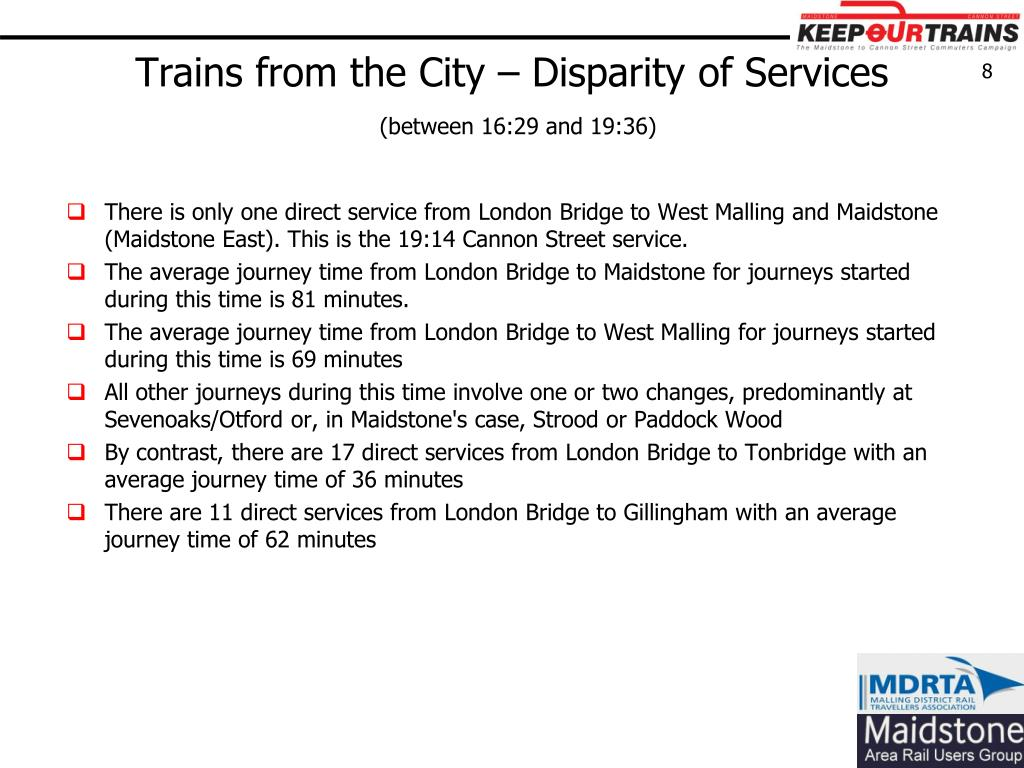 Trains from the City – Disparity of Services