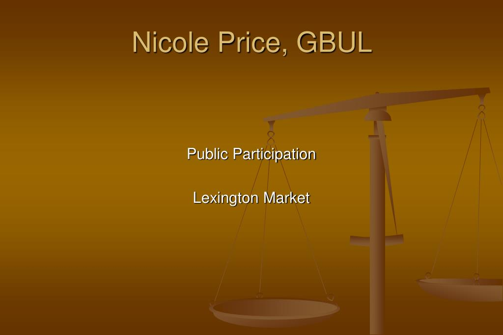 Nicole Price, GBUL