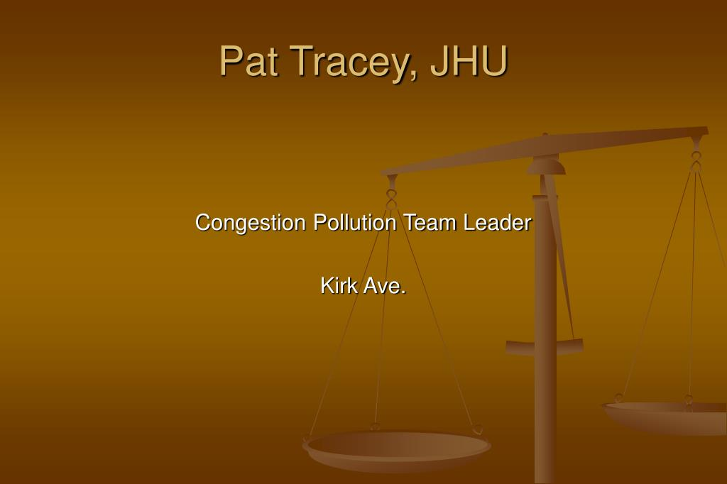 Pat Tracey, JHU