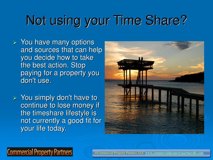 Not using your time share
