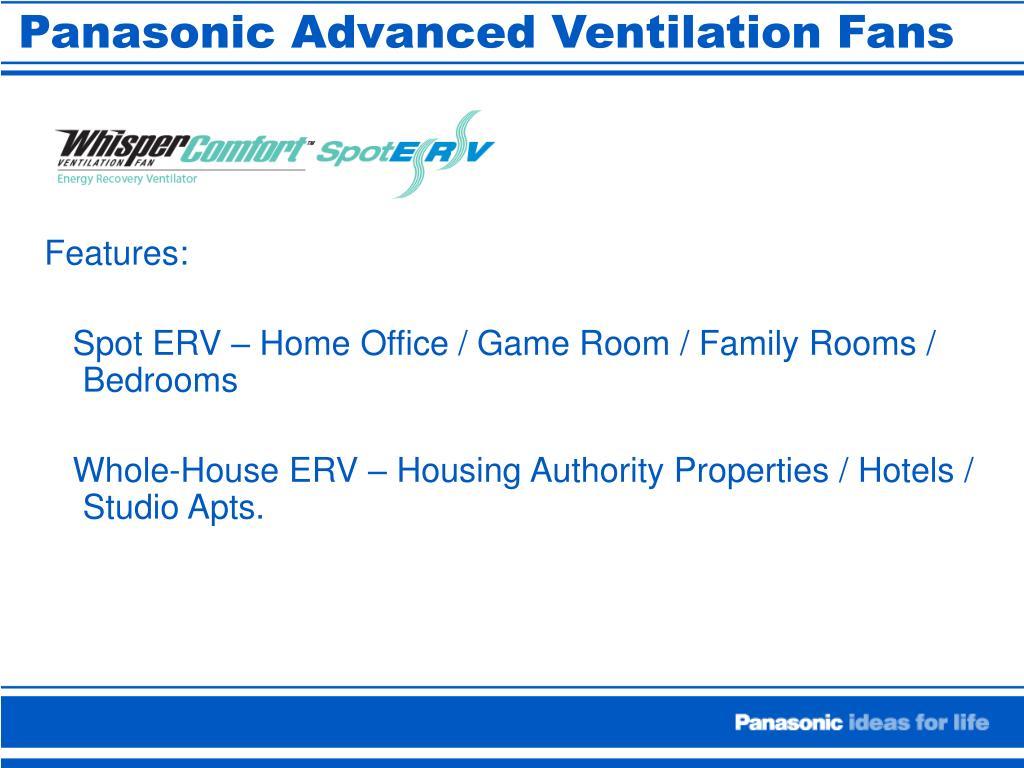 Panasonic Advanced Ventilation Fans
