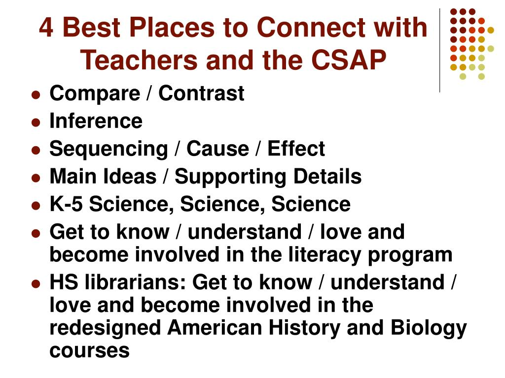 4 Best Places to Connect with Teachers and the CSAP