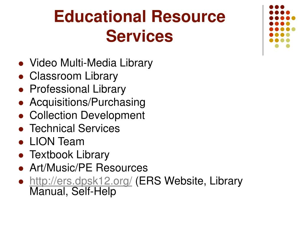 Educational Resource Services