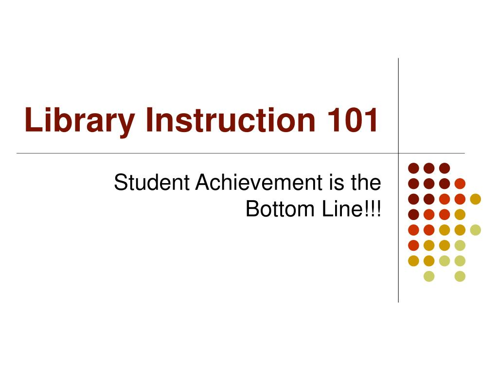 Library Instruction 101
