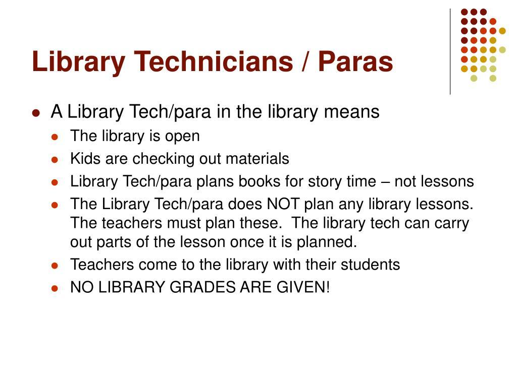 Library Technicians / Paras