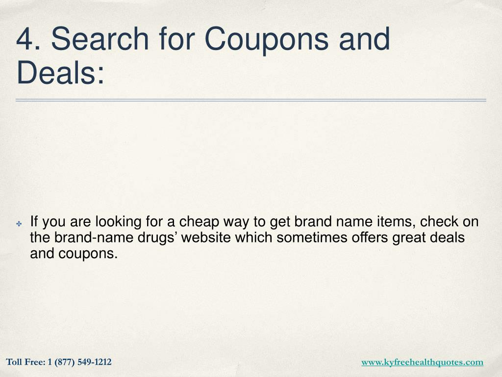 4. Search for Coupons and Deals: