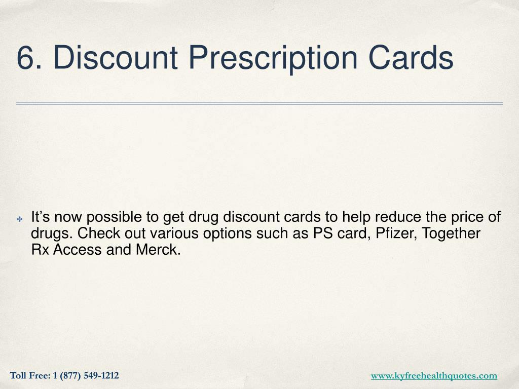 6. Discount Prescription Cards