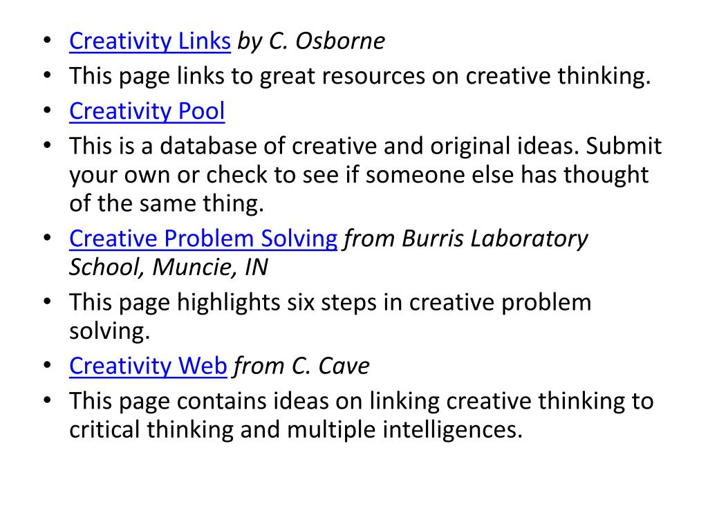 Creativity Links