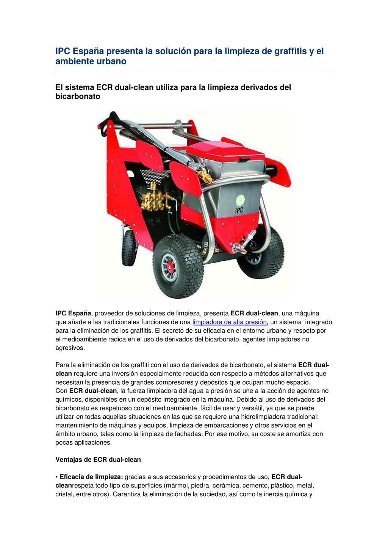 IPC España presenta la solución para la limpieza de graffitis y el