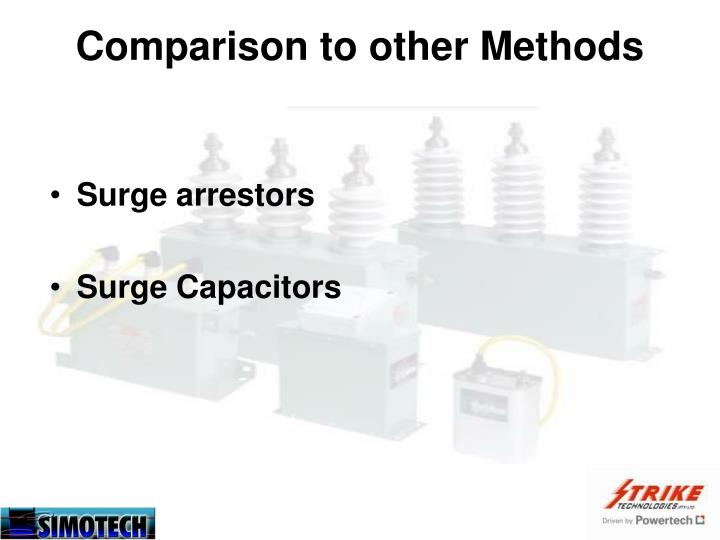 Comparison to other Methods