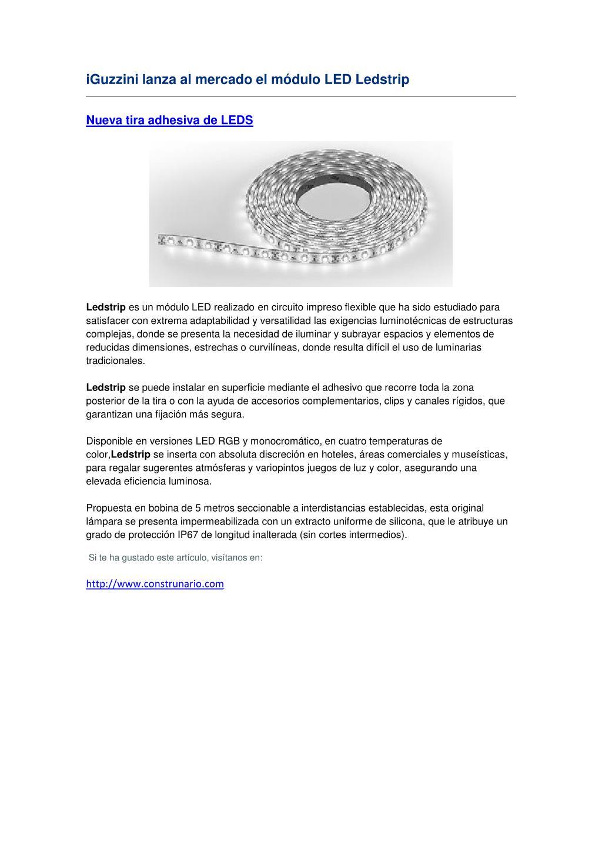 iGuzzini lanza al mercado el módulo LED Ledstrip