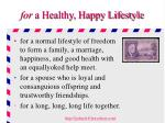 for a healthy happy lifestyle