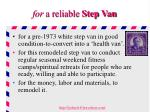 for a reliable step van