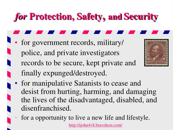 For protection safety and security l.jpg