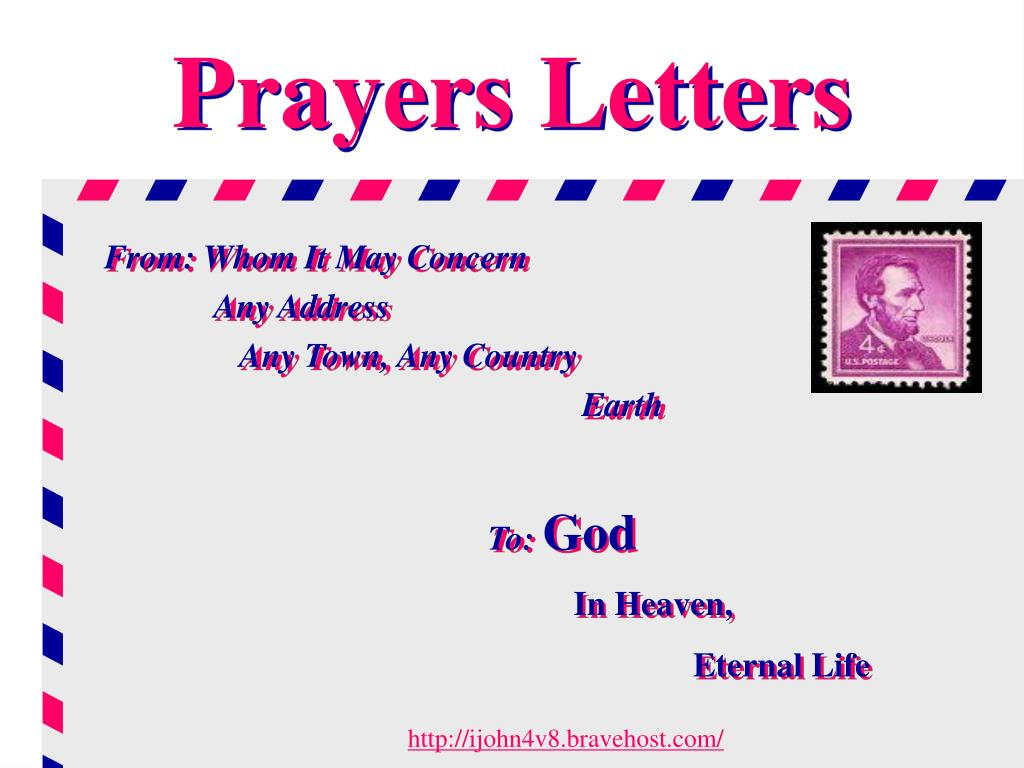 prayers letters