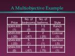 a multiobjective example17