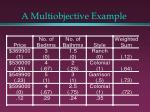 a multiobjective example26