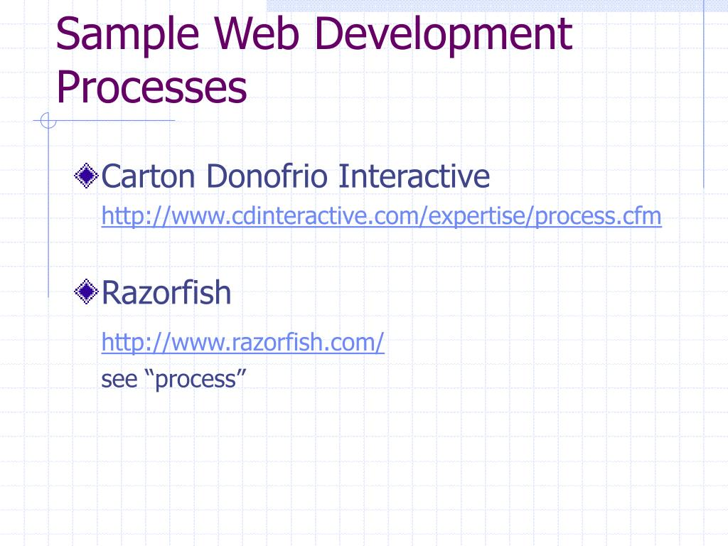 Sample Web Development Processes