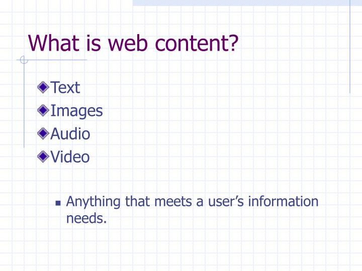 What is web content