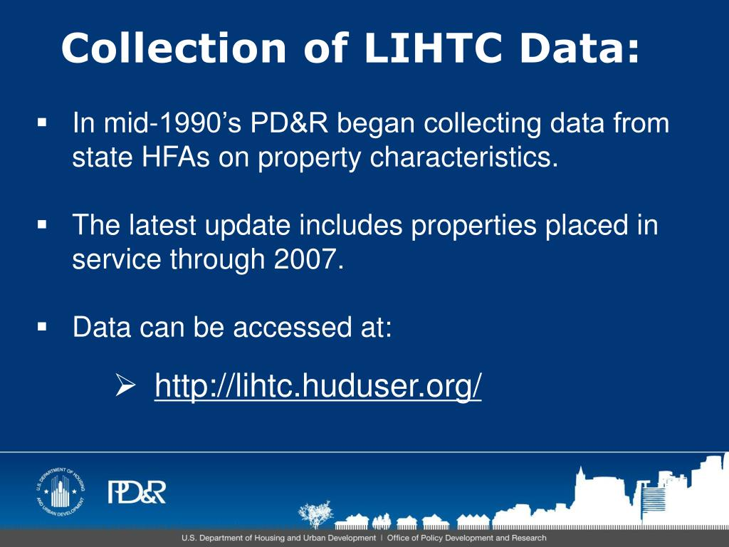 Collection of LIHTC Data: